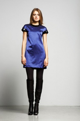 Fall fashion satin blue