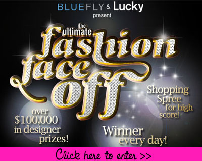 Bluefly and Lucky present the ultimate fashion face-off