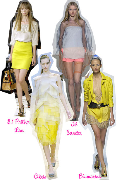 Spring Trends 2008 Neons and Neutrals