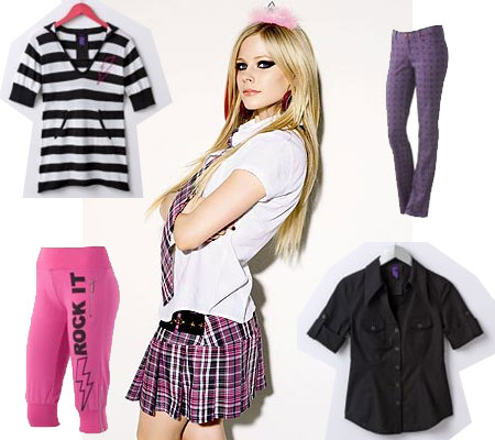 Avril Lavigne's Abbey Dawn juniors sportswear line is now available at