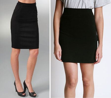 Luxe vs. Less: The Black Pencil Skirt - The Budget Babe ...
