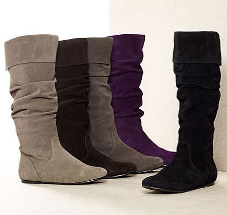 fall trend the flat suede boot the budget
