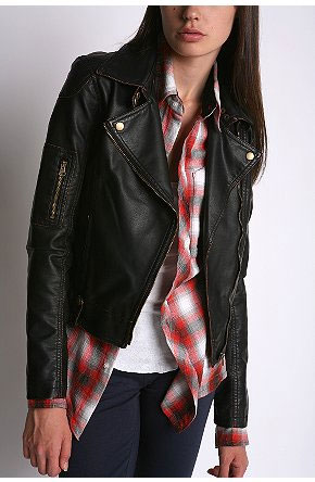 Red leather jacket urban outfitters