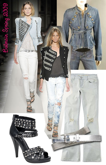 Balmain inspired looks for spring 2009