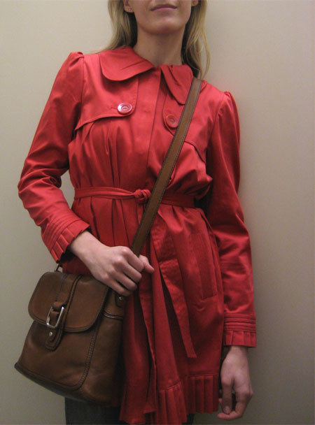 ELLE Coral Pleated Trench