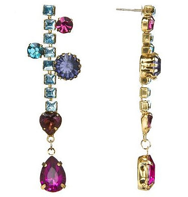 Erickson Beamon for Target multicolor dangle earrings