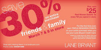 Lane Bryant Friends and Family Coupon