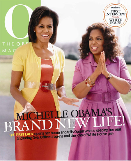 Michelle Obama on the April 2009 cover of O, The Oprah Magazine