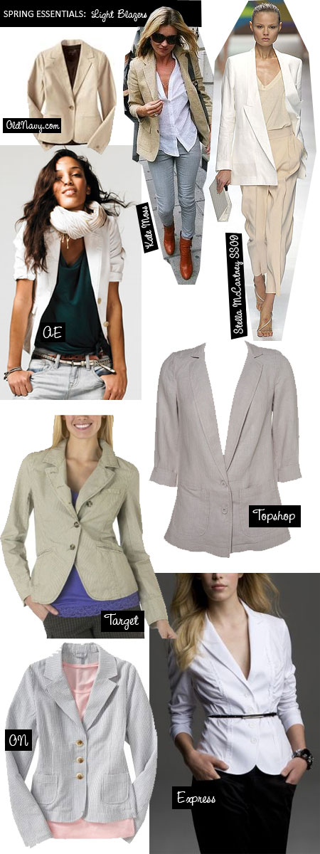 Spring 2009 Fashion Trends: Light Colored Blazers