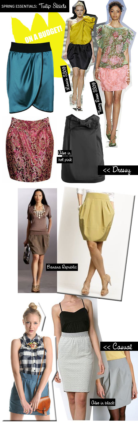 Spring Fashion 2009 Best Tulip Skirt Trend on a Budget