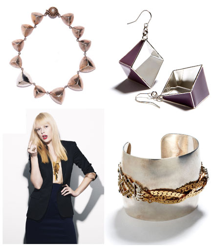 Examples of jewelry from the Bing Bang jewelry collection