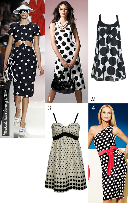 Four Dotted Dresses Inspired by Michael Kors Spring 2009 Collection
