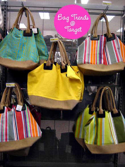 Just About Every Spring Handbag Trend Can Be Found For Less At Target There Are Eye Catching Croc Print Handbags Casual Cool Striped Beach Bags