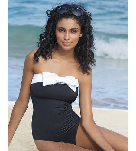 Newport-News Bow Bandeau Swimsuit