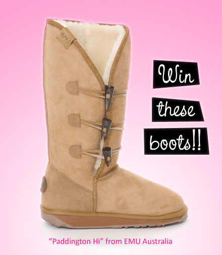 Win Cool Stuff: Paddington Hi Boot from EMU Australia