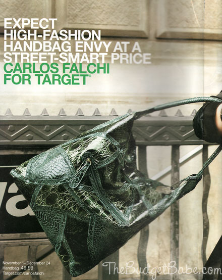 Carlos Falchi for Target first look photo from Lucky mag