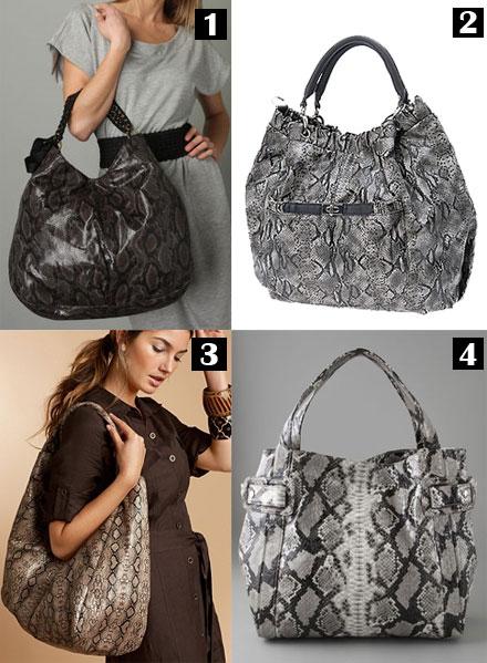 Spot The Splurge Python Handbags