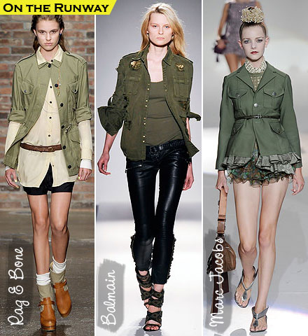 Spring Fashion Trends 2010: Army Jackets