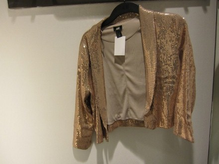 a Relaxed Sequin Jacket in a