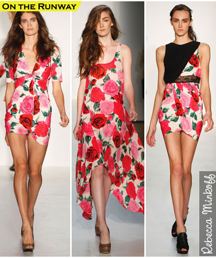Spring Fashion Trends 2010: Rose Prints as seen on Rebecca Minkoff runway