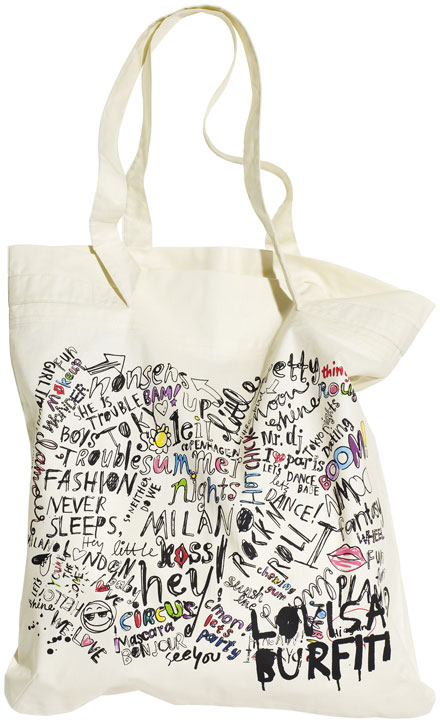 Lovisa Burfitt to design cotton bags for H&M and UNICEF's