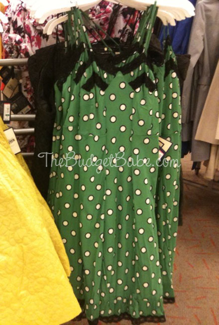 2dd5378782 Jean Paul Gaultier for Target Lingerie Dot Print Lace Trim Dress -  Green Cream