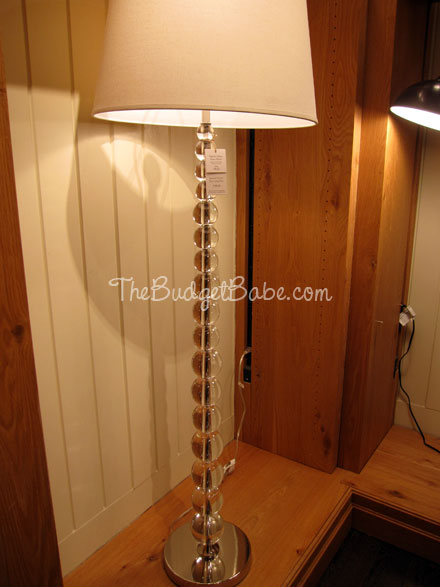 Off the rack stacked crystal ball lamps at pottery barn the love the matching floor lamp aloadofball Gallery