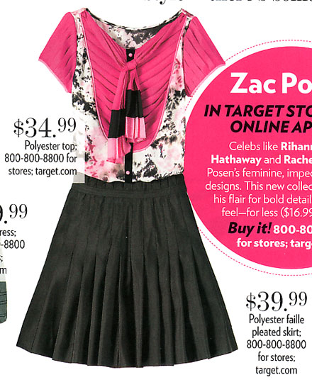 Zac Posen for Target in People StyleWatch Mag