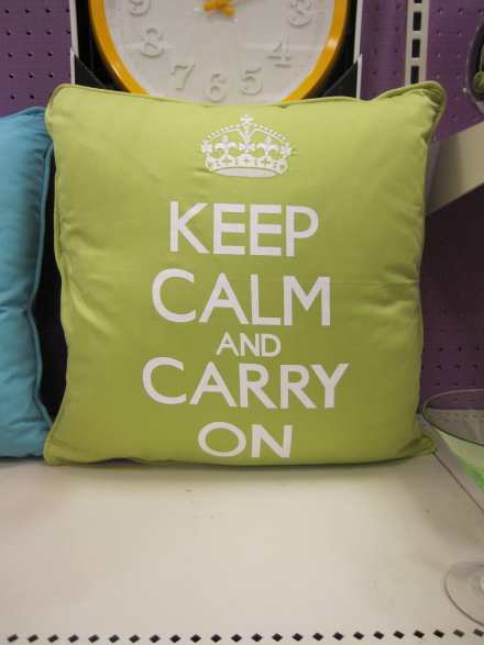 Budget Home: Keep Calm and Carry On Decor at Target