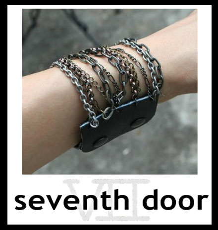 Win Cool Stuff: Leather + Metals Bracelet from Seventh Door
