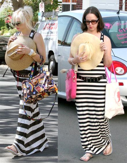 Readers Recreate: Gwen Stefani&-39-s Striped Maxi Dress Look for Less ...