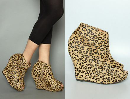 The Look for Less: Jeffrey Campbell Cheetah Tick Wedge
