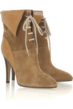 The Look for Less: Chloé Suede Lace Up Ankle Boot - The Budget ...