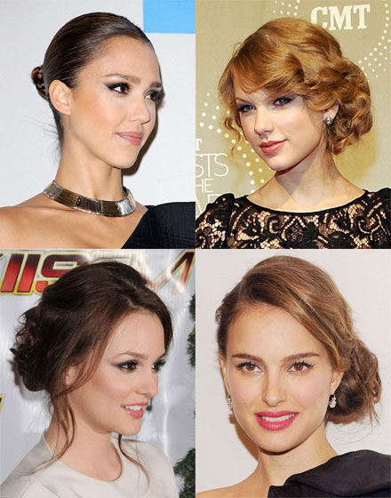 New Years glam updo wedding hairstyles for long hair Low side Messy bun