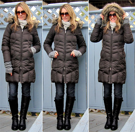 What I'm Wearing: Lands' End Chevron Down Coat - The Budget Babe ...