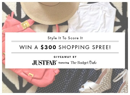 JustFab $300 Giveaway with TheBudgetBabe.com