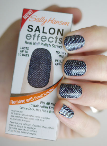 Recently Sally Hansen Sent Me Some Of Their New Salon Effects Nail Polish Strips Kits To Try Out So I Shipped A Few My Sister Chantal