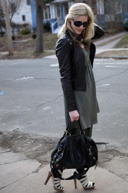 26465190c25d What I m Wearing  Banana Republic Olive Silk Twist-Strap Dress - The ...