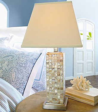 Get This Look For Your Home Less With Cindy Crawford Style S Mother Of Pearl Lamp Instead Now 99 Down From 200 At Jcpenney