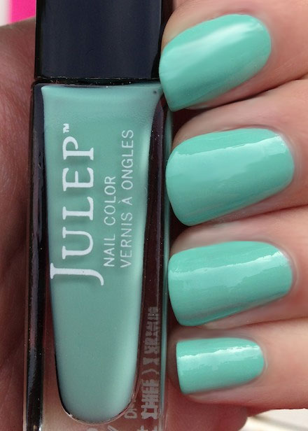 'Dianna' a mint blue nail polish by Julep, named after The Budget Babe