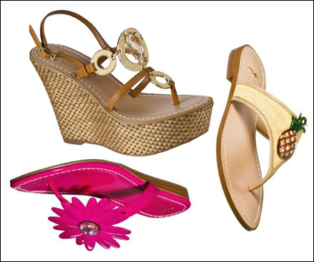 3b68906caf09 Miss Trish of Capri is back at Target with a new collection of fabulous  summer sandals. There are 10 styles to choose from  A seahorse embellished  wedge