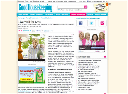 The Budget Babe in Good Housekeeping Magazine