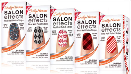 Sally Hansen Salon Effects Real Nail Polish Strips Holiday Collection