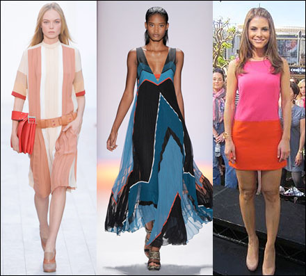 you dont need me to tell you that colorblocking is one of the biggest trends for spring this perennial favorite showed up in new ways on the runways at