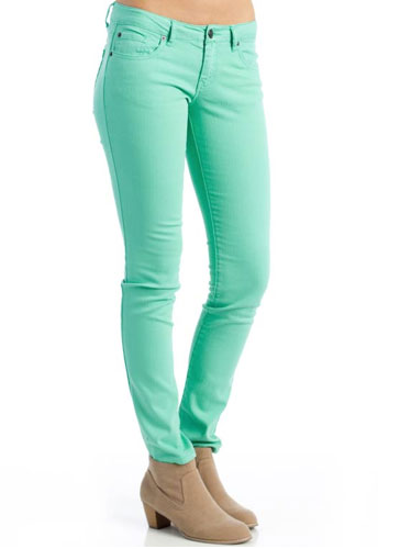 Awesome Womens Mint Green Skinny Jeans  Legends Jeans