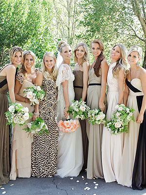 40a2c8201bb I am getting married this October and am on the hunt for six unique bridesmaids  dresses. (On a budget of course.) My inspiration is Molly Sims  wedding and  ...