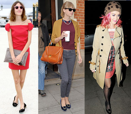 Celebs who wear Charlotte Olympia Kitty Flats