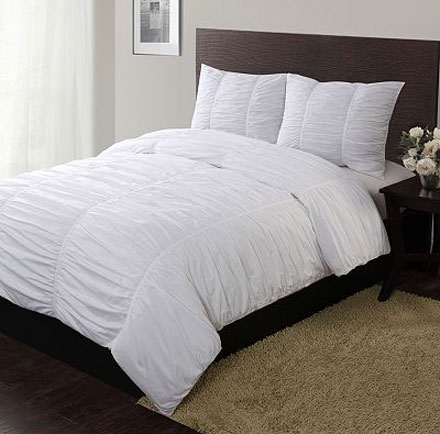 Another Option At Kohl S Is The Madison Park Catalina 4 Piece Ruched Duvet Set 114 99 For Full Queen Both Sets Are Also Available In Lavender