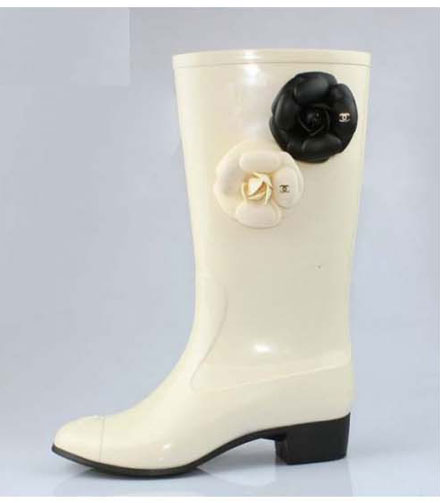 The Look for Less: Chanel Camellia Rain Boots - The Budget Babe ...