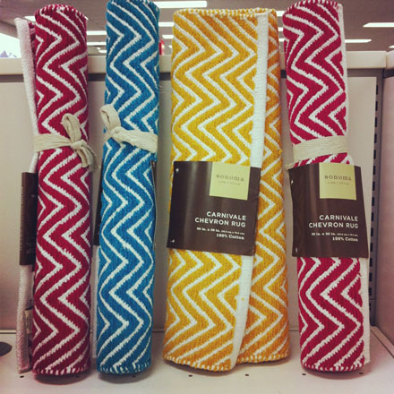 Chevron rugs on the cheap!